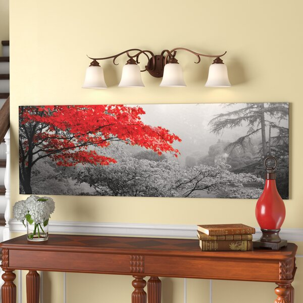 Trees in a garden Photographic Print on Wrapped Canvas by Red Barrel Studio