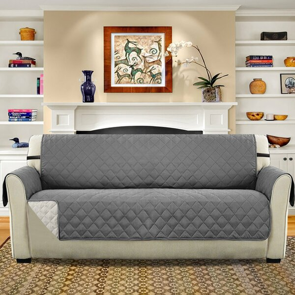 Diamond T-Cushion Sofa Slipcover By Winston Porter