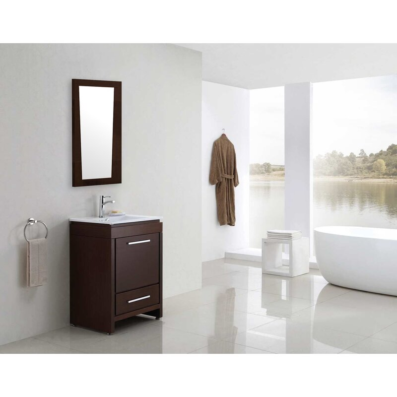 Ebern Designs Yoxall Modern Bathroom Mirror Wayfair