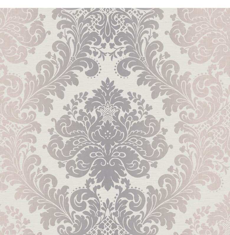 """27 In X 27 In Rustic Mother Of Pearl Wall Decor 41121: York Wallcoverings Artisan Estate Ombre 27' X 27"""" Damask"""