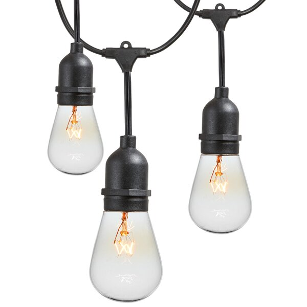 15-Light Commercial Grade Outdoor Weatherproof String Lights by Newhouse Lighting