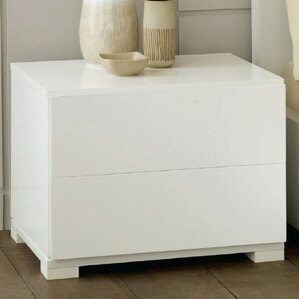 Leraine Contemporary 2 Drawer Nightstand by Wade Logan