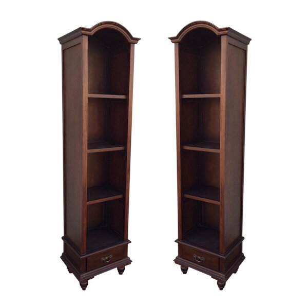 Bonnet Top Standard Bookcase (Set of 2) by D-Art Collection