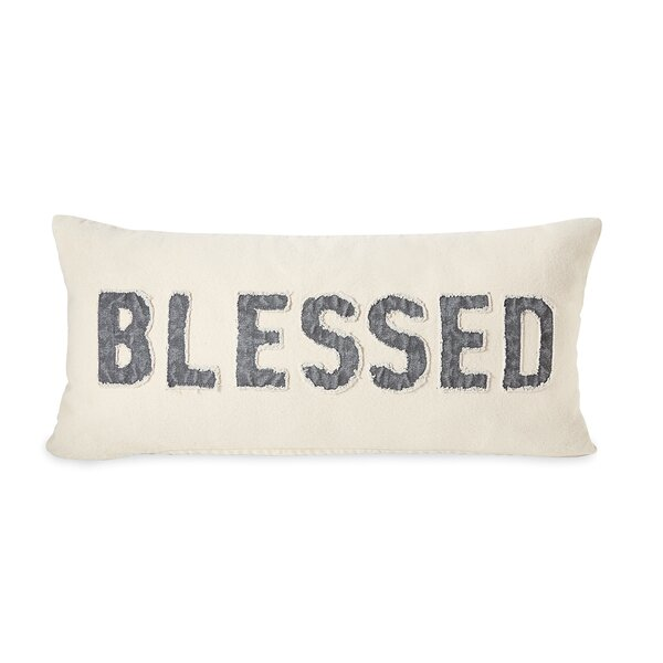 Blessed Cotton Lumbar Pillow by Mud Pie™
