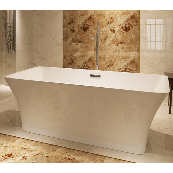 HelixBath Parva 59 x 29.5 Soaking Bathtub by Kardiel