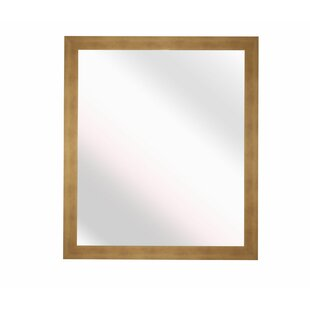 Latitude Run Square Hushed Mirror Accent Wall Mirror