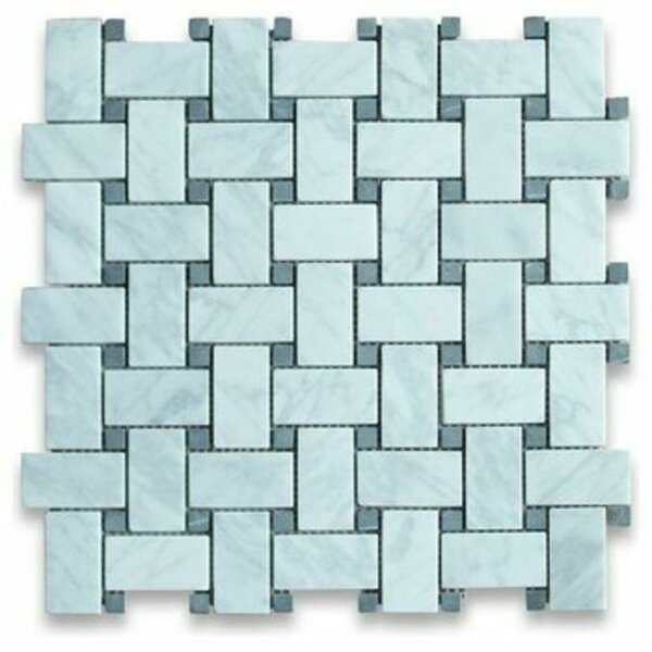 Basketweave Honed 12 x 12 Marble Mosaic Tile