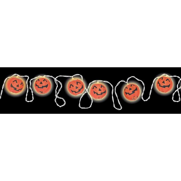 Halloween Pumpkin Lantern 100 Light String Lighting by Amscan