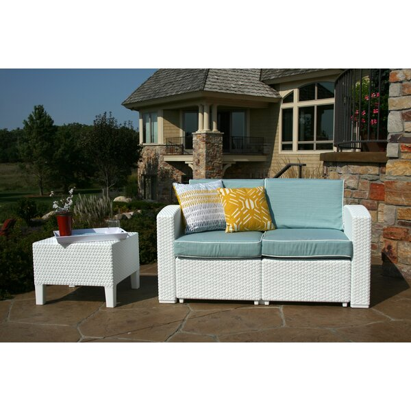 Loggins 2 Piece Rattan Sofa Seating Group with Cushions by Brayden Studio
