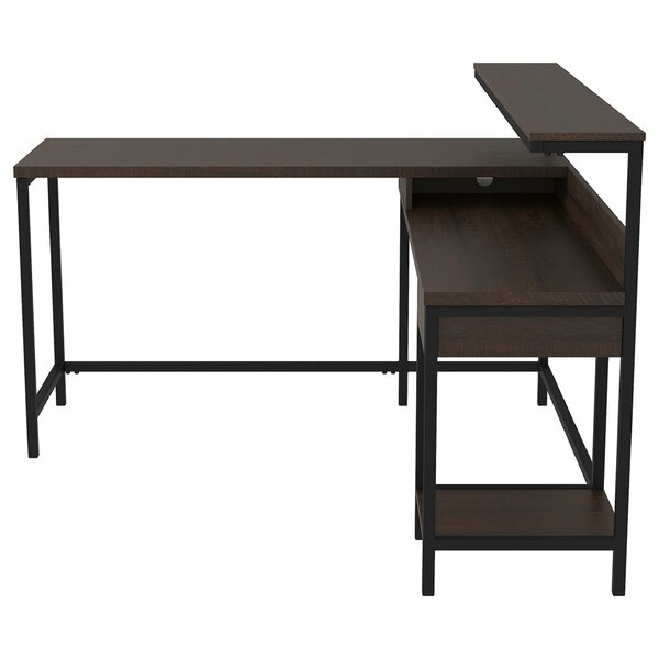 Hannelore L-Shape Desk with Hutch