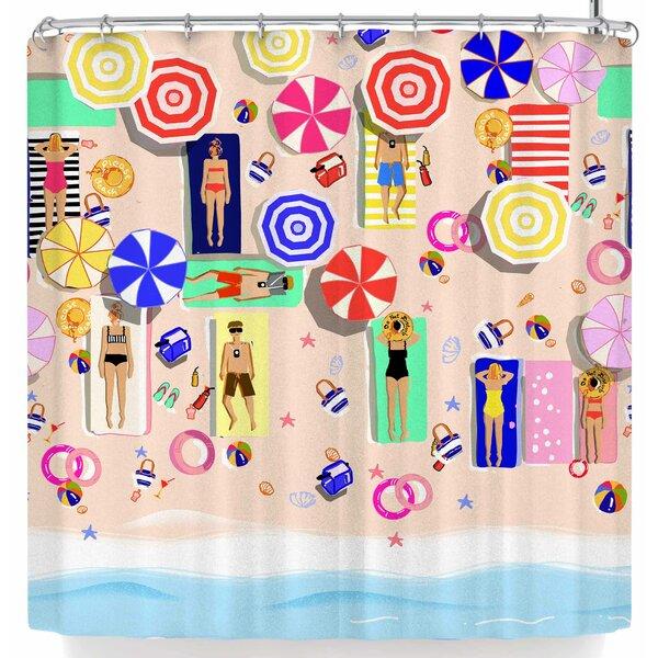 Mukta Lata Barua Beach Holiday Shower Curtain by East Urban Home