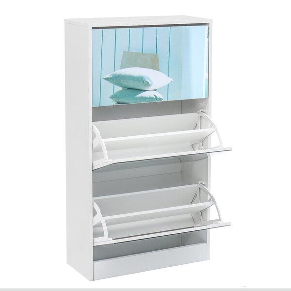18 Pair Stackable Shoe Storage Cabinet
