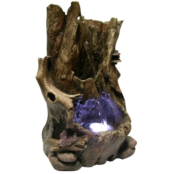 Fiberglass Tabletop Waterfall Fountain with LED Light by Woodland Imports