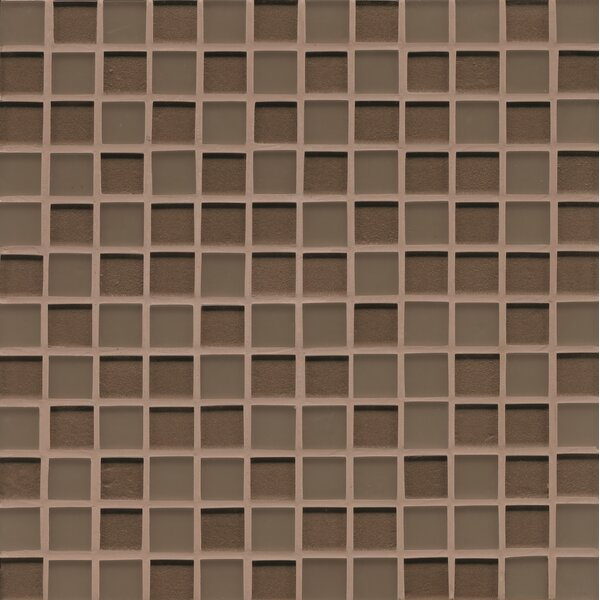 Remy Glass 12 x 12 Glass Mosaic Mesh Mounted in Brown by Grayson Martin