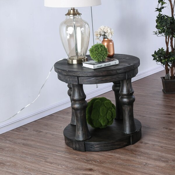 Amstel Farmhouse End Table by Gracie Oaks