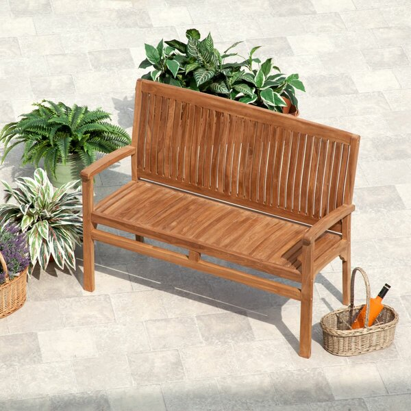Rohrbach Teak Garden Bench by Loon Peak