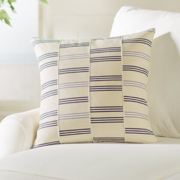 Atwell Square Cotton Throw Pillow by Beachcrest Home