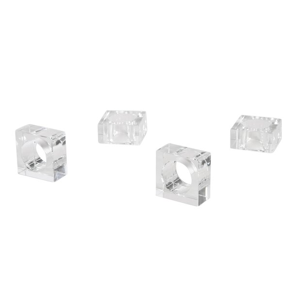 Crystal Napkin Ring (Set of 4) by Saro