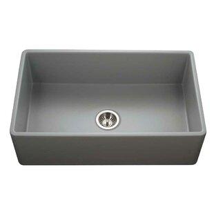 Platus 33 L x 20 W Apron Kitchen Sink ByHouzer