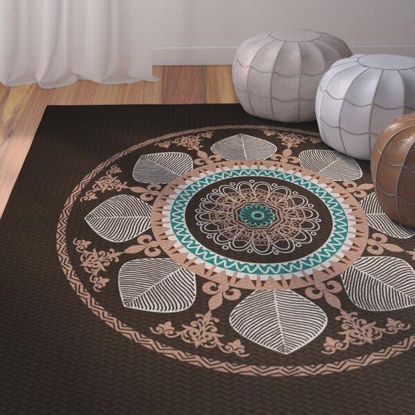 Soluri Brown Indoor/Outdoor Area Rug by Bungalow Rose
