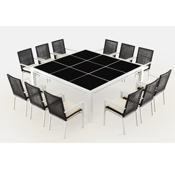 Sitz 13 Piece Dining Set with Cushions by Brayden Studio