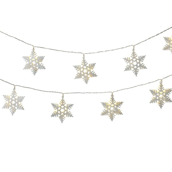 Holiday Shines 10 LED Snowflake String Light by Midwest Seasons