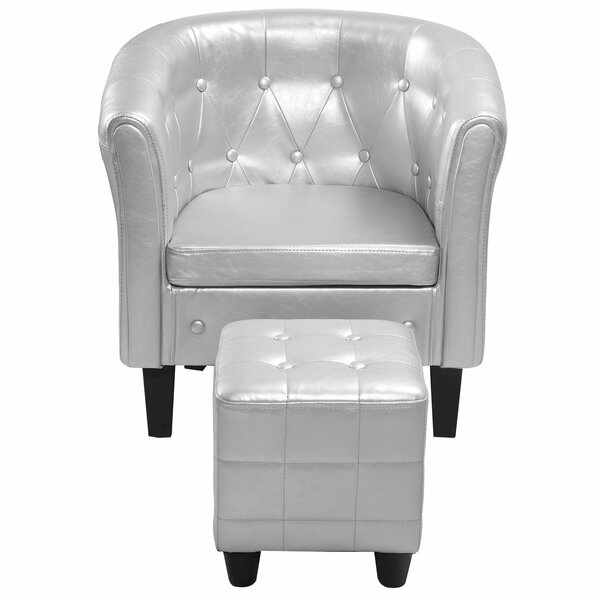 Crystal Barrel Chair by Charlton Home
