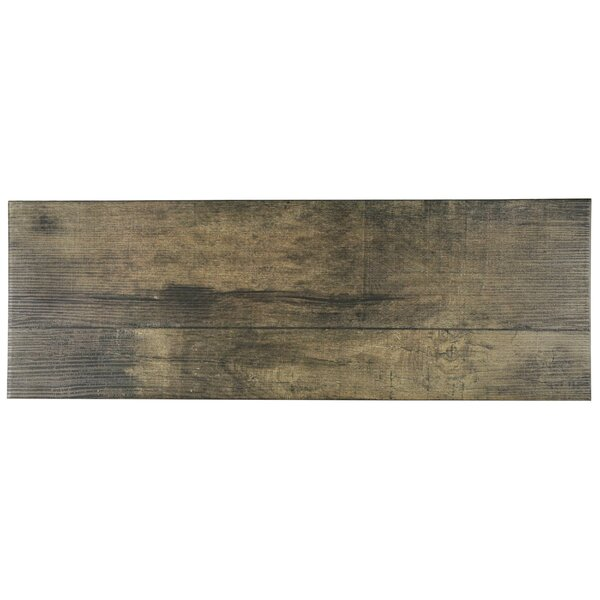 Lena 7.88 x 23.63 Ceramic Wood Tile in Beige by EliteTile