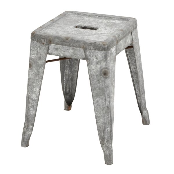 Metal Galvanized Stool (Set of 2) by Cole & Grey