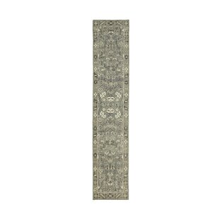 Price comparison Romeo Hand-Knotted Wool Ivory/Charcoal Area Rug ByCharlton Home