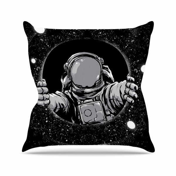 digital carbine Hole Fantasy Digital Outdoor Throw Pillow by East Urban Home