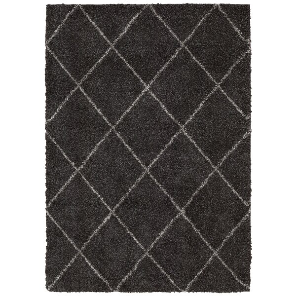 Kalypso Charcoal Area Rug by Mercury Row