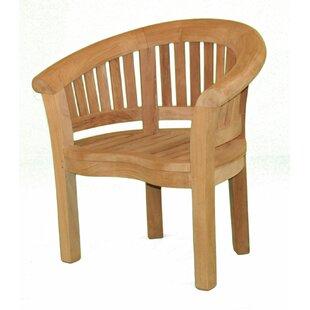 Half Moon Teak Patio Chair