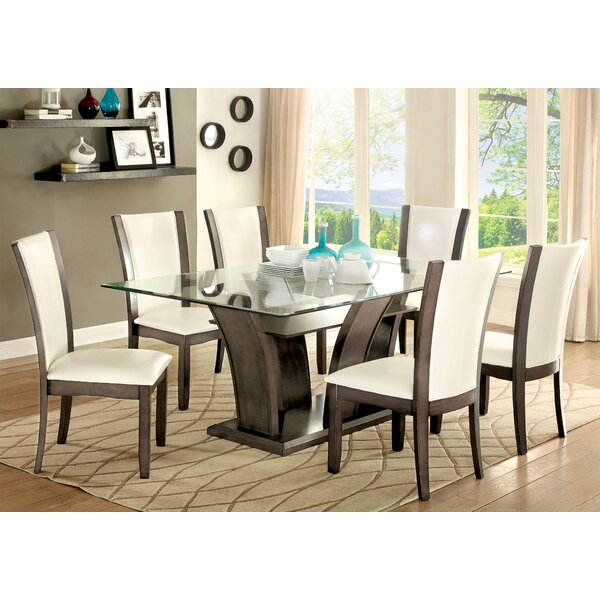 Leets 7 Piece Dining Set by Latitude Run