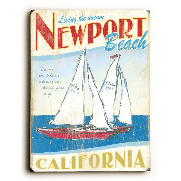 Sailboats with Text Vintage Advertisement by Artehouse LLC