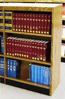 Single Face Shelf Standard Bookcase by W.C. Heller W.C. Heller