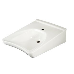 Online Reviews Commercial Ceramic 21 Wall Mount Bathroom Sink with Overflow By Toto