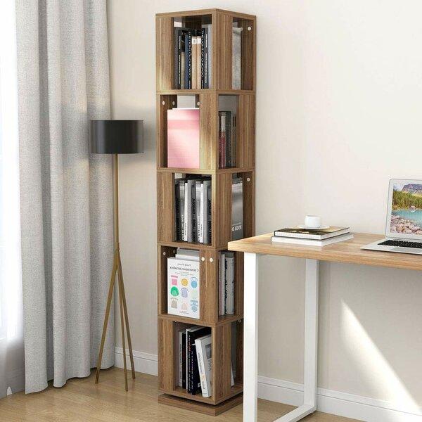 Lindberg Modern Rotating Corner Bookcase by Ebern Designs