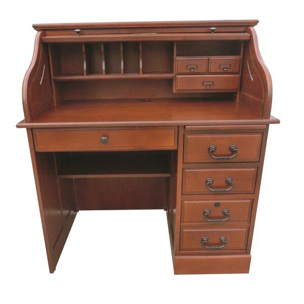 Clover Roll Top Secretary Desk by August Grove