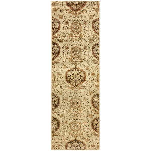 Goshen Contemporary Gold Area Rug by Bloomsbury Market