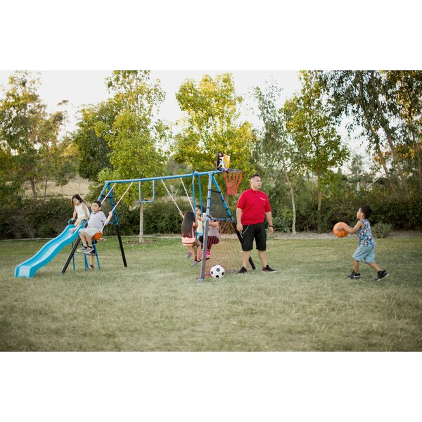 7 Station Sports Series Metal Swing Set by Fitness Reality Kids