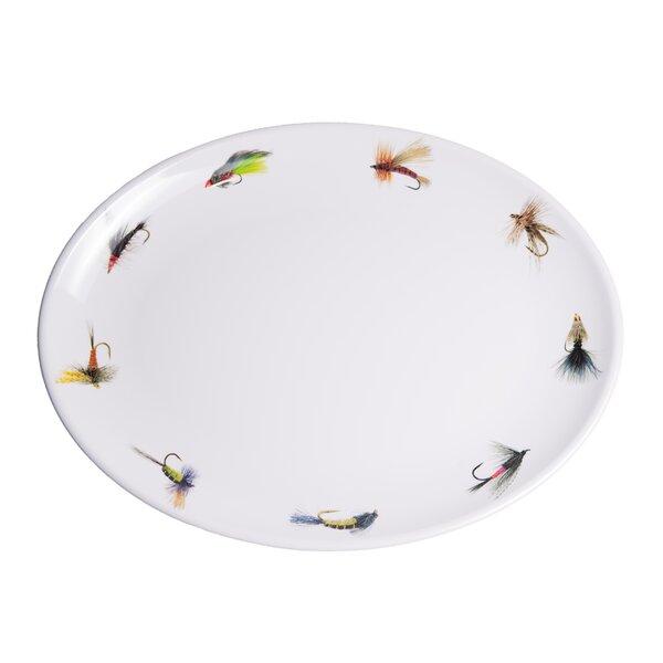 Timmons Fishing Flies Oval Melamine Platter by Loon Peak