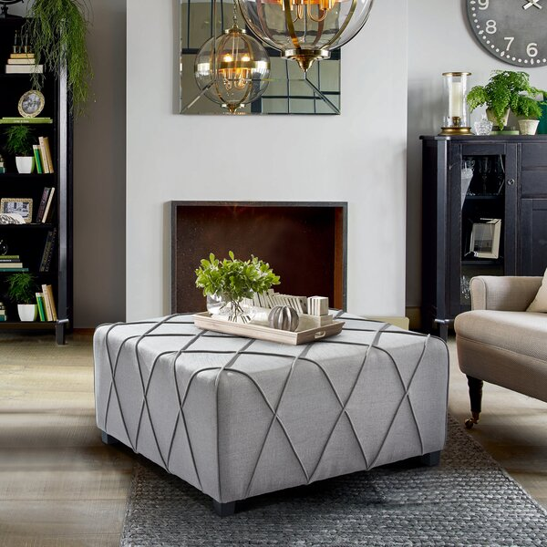 Everette Cocktail Ottoman by Breakwater Bay