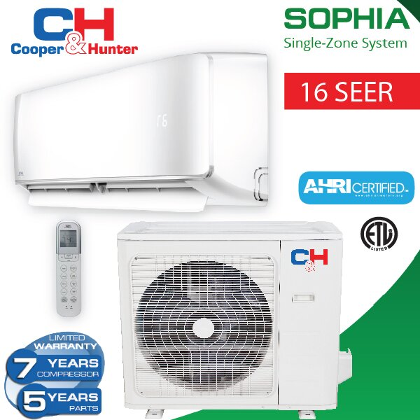 Sophia 36,000 BTU Energy Star Ductless Mini Split Air Conditioner with Remote by Cooper&Hunter