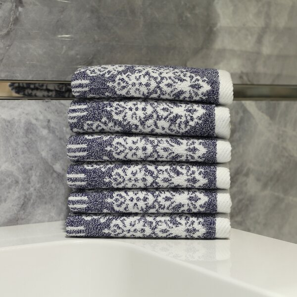 Gioia Turkish Cotton Washcloth (Set of 6) by Linum Home Textiles