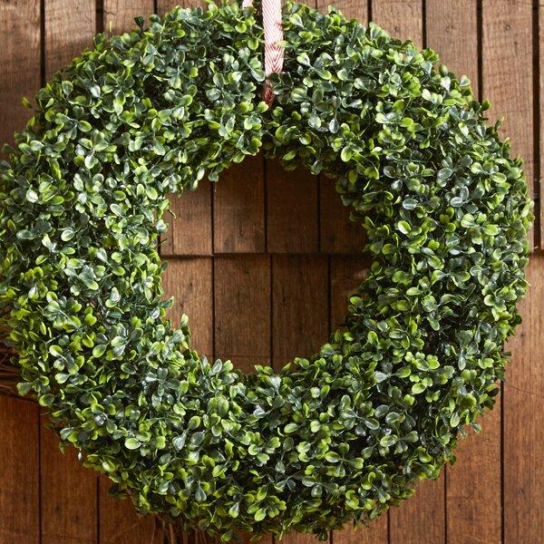 16.5 Faux Boxwood Wreath by Lark Manor