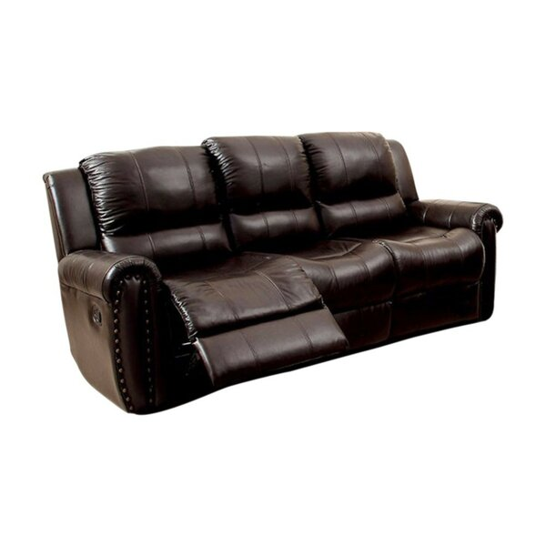 Garces Leatherette Recliner Sofa by Red Barrel Studio
