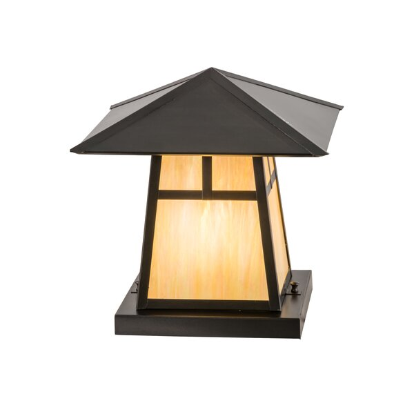 Greenbriar Oak Stillwater T Mission 1-Light Pier Mount Light by Meyda Tiffany