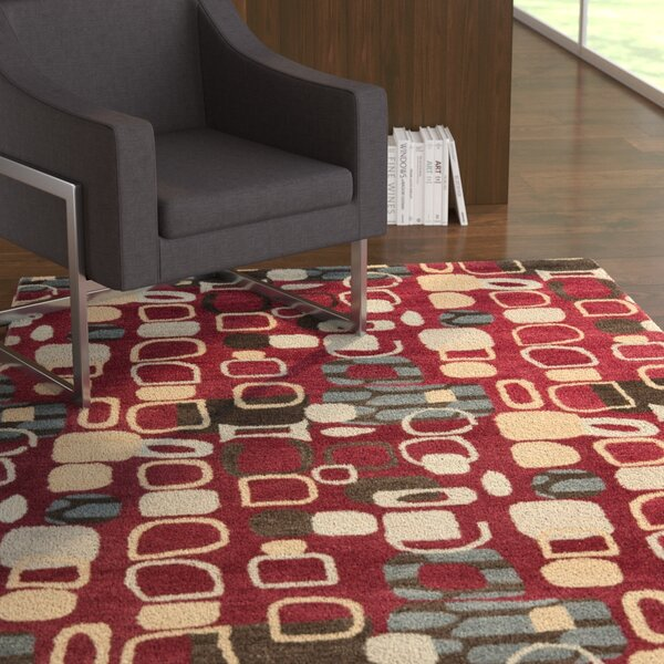Demetra Red Rug by Ebern Designs
