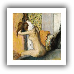 'After the Bath, Woman Drying her Neck' by Edgar Degas  Painting Print on Rolled Canvas by Fleur De Lis Living